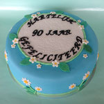 Verjaardagstaart 90jaar