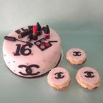 Chanel make-up taart, Sweet16