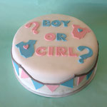Gender Reveal taart