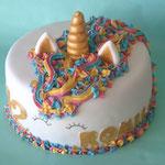Eenhoorn taart, unicorn