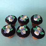 Bloemencupcakes, viooltjes