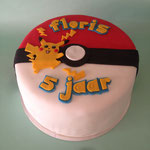 Pokemon taart met Pikatshu