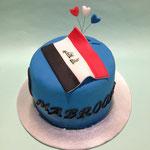 Irakese vlag taart