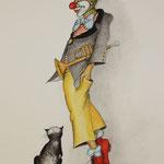 Clown mit Katze