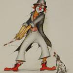 Clown mit Hund