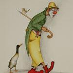 Clown mit Gans