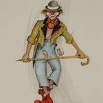 Clown mit Mäusen