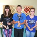 catégorie Cadet : Eric LOUVRIER 1er, Laurine ARISI 2ème et  Louise GRANDVUILLEMIN (3ème)