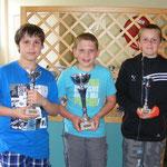 catégorie Poussin : Quentin LOUVRIER (1er), Mathieu JANIN (2ème) et Nicolas ALBINI (3ème)