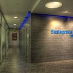 Saalepraxis Behandlungsbereich, Aluminium, 150 cm 100 cm