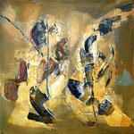 Luigi Brolese_Contrapposti-acrilico e olio su tela - 60x60 - 2013