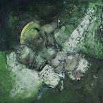 Luigi Brolese - Composizione cm. 60 x 60 Acrilico e olio su tela