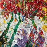 trascendenze _resine, pigmenti e smalti su tela aggomitolata_cm 110x140