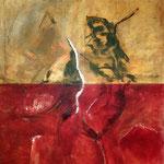Luigi Brolese-Prometeo-acrilico e olio su tela-cm120x100-2014