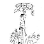 """1945 - Paru dans """"Ene kèrtinèye dè fleûrs"""", anthologie wallonne, pour illustrer un texte de Charles Berger intitulé """"A m' viladge"""""""