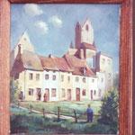 L'église Saint-Nicolas après le bombardement de mai 1940