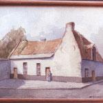 Petite maison du XVI e s. rue de Bruxelles (Offert par Jacques, fils d'Octave, à son instituteur, M. Charlier en 1943)