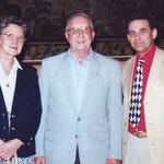 Pierre et Julienne Vitoux avec Philippe Sanspoux