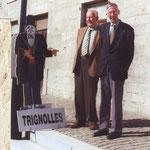 """Jean Detournay et Jacques Peraut de la revue nivelloise """" Rif Tout Dju """""""