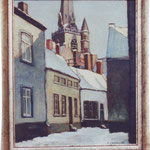 La rue du Coq sous la neige