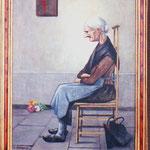 Peinture réalisée par Octave Sanspoux d'un dessin paru dans le livre