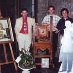 Philippe, Gérald et Alain Sanspoux, petits-fils d'Octave