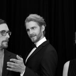 Christian Holzmann als Kreon, Max Konrad als Spielleiter und Julia Braunegger als Medea
