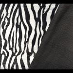 "Stoff Mikrofaser Fleece ""Zebra"""