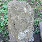 初代大会堂献堂当時(1875年)の石碑 (A.D.1875が読み取れる)