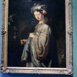 エルミタージュ美術館レンブラント。フローラに扮したサスキア