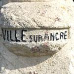 La borne Vauthier de Ville-sur-Ancre: détail