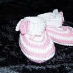 gestrickte Babyschuhe