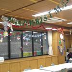 食堂がクリスマス仕様