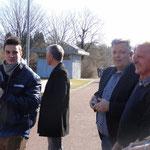 Schulleiter der Tannenhag-Schule Hr. Gerhold, stellvertretender Schulleiter der CDS, Hr Grupp und Lehrer in der Holzwerkstatt Hr. Himmel (Weinreich 2015)