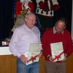 75 Jahre Mitgliedschaft stehen zusammen - Manfred und Istvan
