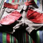Grau · Bund 80 cm · 20100320 · Innenseite vorn mit rechter und linker Tasche