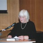 Elke-Hannah bei ihrer Ansprache