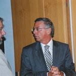 Wolfgang Bosbach begrüßt Thomas Wintgen vom WGA
