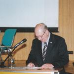 Joop bei seiner Ansprache