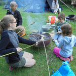 Besuch im Erlebniswald im August 2016: So macht das Essen Spaß