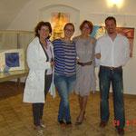 la solerte Arianna, organizzatrice della Pgi, con la mamma, Jean Claude e Gloria