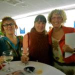 da sinistra: con l'artista Angela Rei e Franca Paù-Lessi