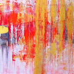 Vibrazioni (mista su tela/trittico) 200 x 50 - 2009 COLLEZIONE PRIVATA