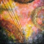 Le rughe della memoria (misto su tela) 180 x 60 - 2010 COLLEZIONE PRIVATA