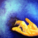 Tempus fugit (acrilico e olio su tela) 80 x 80 - 2014 COLLEZIONE PRIVATA SCUDO (Servizio cure a domicilio) Lugano