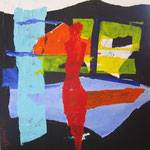 à la fenêtre2 (acrilico) 30x30 - 2014
