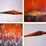 Vibrazioni oniriche (4 x 40x40) mista su tela - 2012