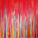 Pensieri e parole (mista su tela) 60 x 90 - 2011