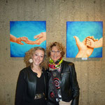 con la critica dell'arte Emanela Rindi, alla vernice 13.12.16