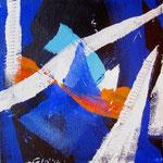 Vele al vento2 (acrilico) 20x20 - 2014
